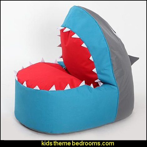 Shark Style Comfort Sofa  Shark Bedrooms - shark murals - Shark Decor - shark wall decals - shark theme bedroom decorating ideas -  surfing theme bedrooms - surf shack bedrooms - shark bedding - nautical bedrooms - 3d shark wall decorations