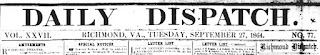 The Daily Dispatch, September 27, 1864, p. 1