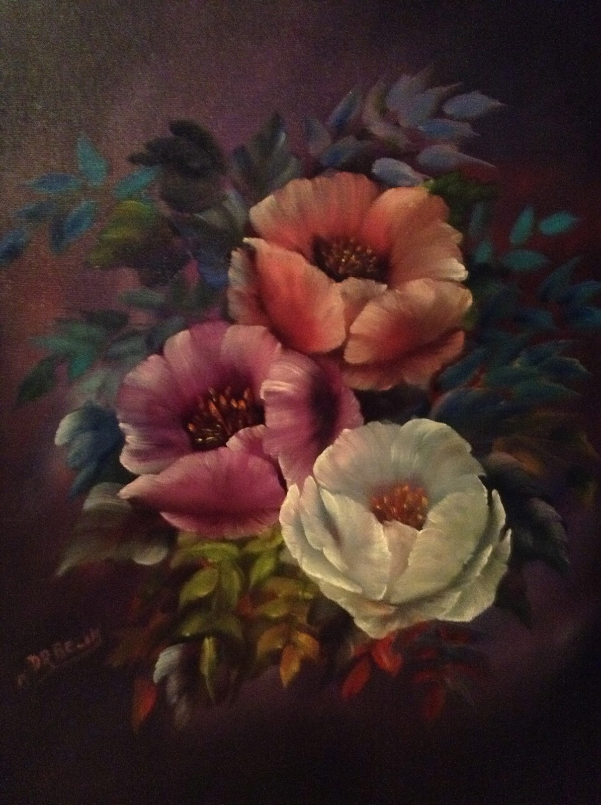 Don Belik Bob Ross 174 Painting Classes Gallery Florals