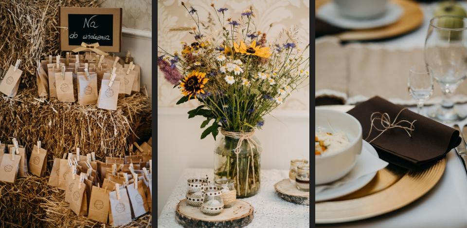 bele słomy przyjęcie weselne