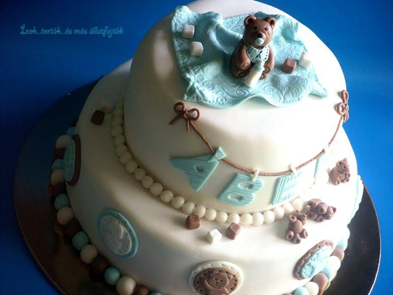 77ade5b0b3 Ízek...torták...és más állatfajták: Macis emeletes torta kisfiúnak ...