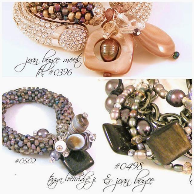 Tanya Lochridge Jewelry Rainbow Obsidian, Freshwater Pearl & Czech Glass 5-Strand Bracelet