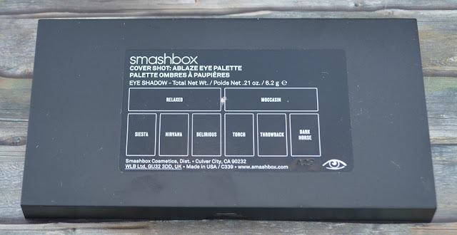 "Smashbox cover shot Lidschatten-Palette ""ablaze"" Rückseite"
