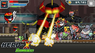 HERO-X: ZOMBIES! Apk v1.0.4 Mod (Unlimited Money/Free Shopping) Terbaru