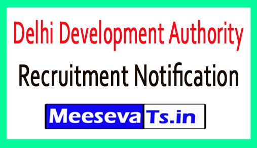 Delhi Development Authority DDA Recruitment