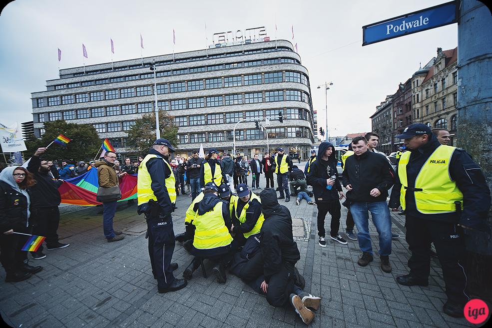 aresztowani podczas wrocłąwskiego marszu równości