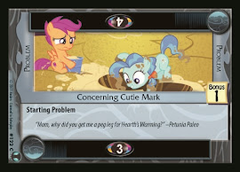 My Little Pony Concerning Cutie Mark Defenders of Equestria CCG Card