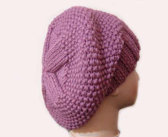 knitting pattern for hat slouchy beret
