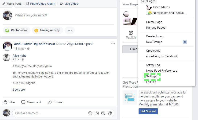 How to Hide and Unhide Annoying post On Facebook - TECHWIZ- NG