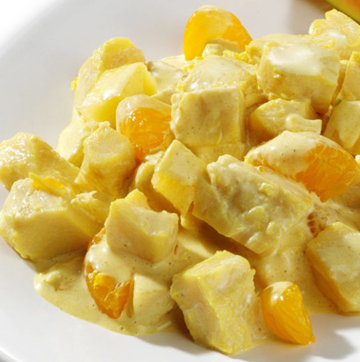 geflügelsalat mit mandarinen und ananas