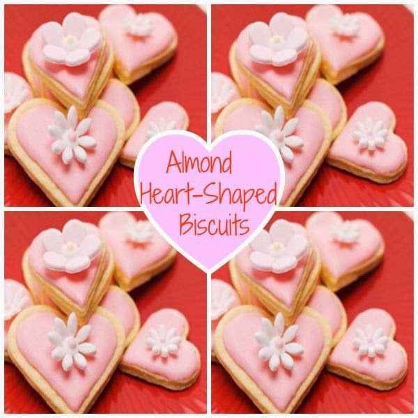 Almond Heart-Shaped Biscuits For Your Valentine.
