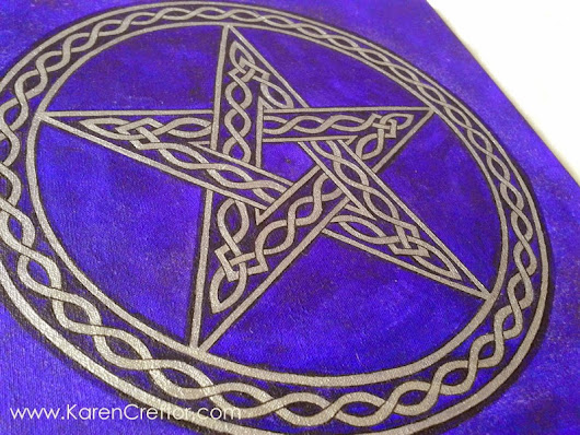 Silver Celtic Pentacle Star