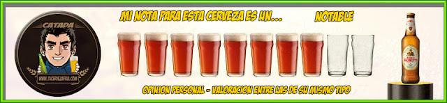 Valoración Cerveza BIRRA MORETTI