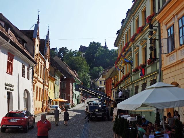 Widok na starówkę miasta Draculi