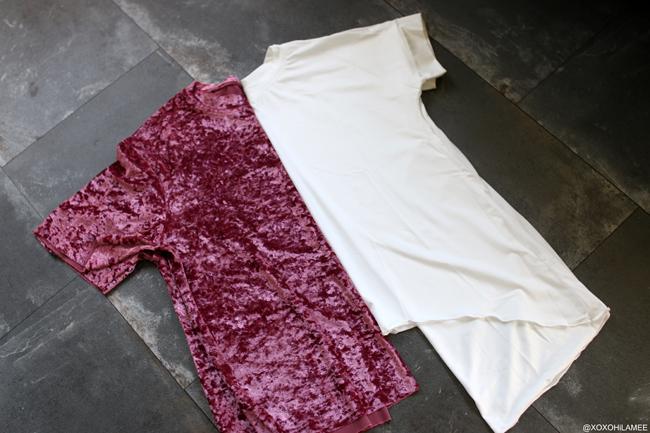 日本人ファッションブロガー,Mizuho K,New In,ピンクベロアTシャツ,ホワイトアシンメトリーTシャツ from SheIn