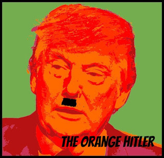 "Donald Trump ""The Orange Hitler""."