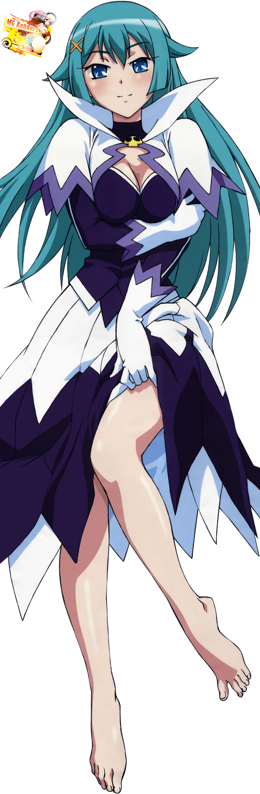Tags: Anime, Render,  Dress,  Feet,  Kaitou Tenshi Twin Angel,  Skirt,  Violet Tesla, PNG, Image, Picture