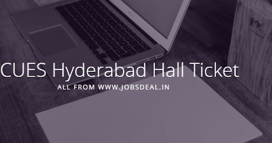 RCUES Hyderabad Hall Ticket 2017 डाउनलोड करें Bill Collector Exam Date