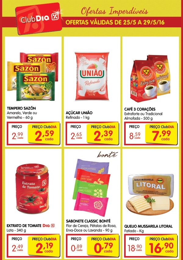 Ofertas Club %Dia Supermercados 25 à 29 de Maio!