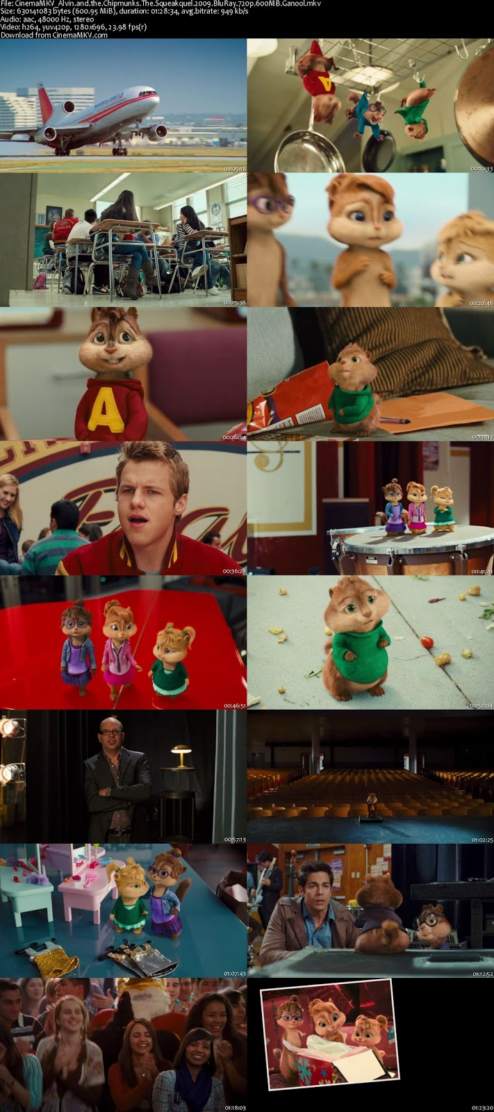 alvin and the chipmunks the squeakquel 2009 cinemamkv