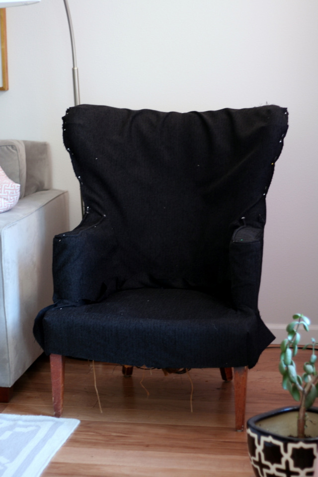 white chair slipcover t cushion high back mesh with headrest phew! vintage wingback finally complete / create enjoy