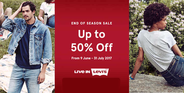 Promo End of Season Sale Levi's Up To 50% Less