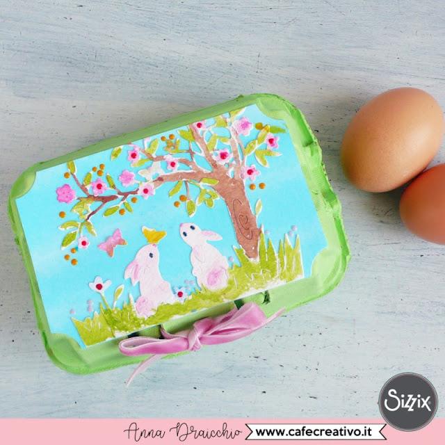 Riciclo creativo dei cartoni delle uova: regalino di Pasqua