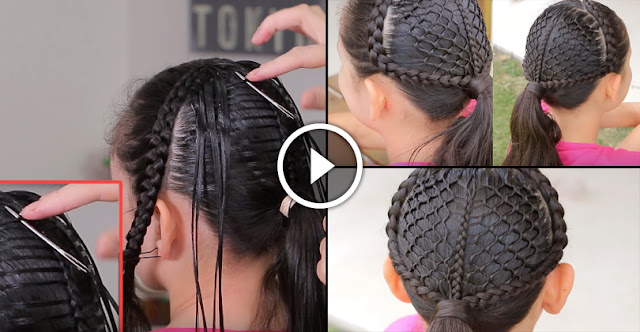 How To Make Honeycomb Ponytail At Home