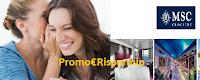 Logo Concorso ''Passaparola e parti in Crociera: vinci crociere MSC e vaschette gelato ''I Cremosi'' omaggio