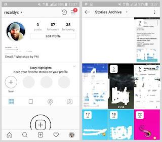 Cara Melihat Story Instagram Kita Yang Telah Kadaluarsa / Hilang