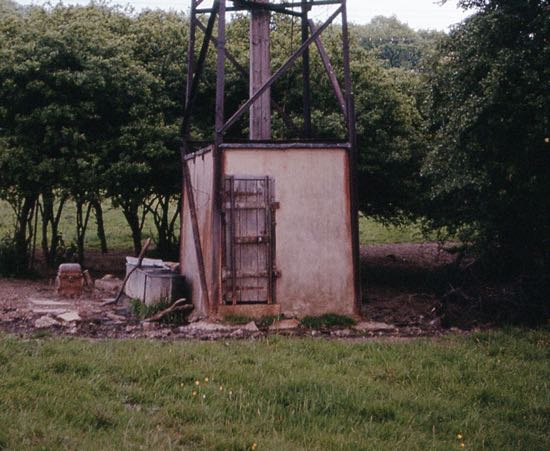Photograph of The well opposite Potterells on the east side of Station Road (now demolished)  Image by Ron Kingdon taken June 1963, from the Images of North Mymms Collection