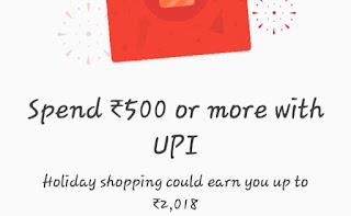 Hello Friend!! Hope you're enjoying our Free Recharge Tricks as well as  Tez Tricks 😍😍. Now we are Back Again with a Tricks through which You can earn a Real Money in bank upto Rs.2018 by Tez App & By Using Tez Tricks ❤. We hope you are knowing the Offer which is newly launched by Google Tez App, In which You will Get a Scratch Card upto Rs.2018 on Shopping through Your Tez UPI Id On The Shopping site which Accept BHIM UPI Payment. But Don't Worry  You don't  have To Shop for a Scratch Card, We have a Tricks For this. By which You will get A Tez Scratch Card Without Shopping. And That Scratch Card can give You  Upto Rs.2018 . So without wasting time Proceed further and Grab this Offer before its goes Expired.....   How To Earn a Scratch Card of Tez ? Without Shopping?  > Firstly Update Your Tez App from Here..    If You are a New User then You will Get Rs.51 on Signup + Refer & Earn Rs.51 per Referral.  > Open Tez App & Click on Your Name, Top of the App. Or, You can Click on the dotted of Right Top Corner of Tez App and then Click on Setting.  > Copy Your Tez UPI id .  Now Comes The Tricky Part ❤  > Install Paytm from PlayStore.  > Login/Signup to Paytm.  > Proceed to Add Money in Paytm.  > Enter Amount Rs.500 or More.  > Choose Payment Mode as BHIM UPI. And Paste Your Tez UPI Id, Which You Copies in Above Step.. And Proceed To Add Money..  > Now You can See a Notifications in Tez App that Paytm Requested a Payment of Rs.500 ( Which You Enter ) Click on Accept and Enter Your UPI Pin and Payment will be Sucess.  > Now You Can See that You Got A Scratch Card in Tez App & Rs.500 in Your Paytm Wallet...  > Now You can Send That Rs.500 back to Your Bank & Scratch a Tez Card That may Hive You Upto Rs.2018..  Below are the Proof that we have got By Tez Scratch Card...