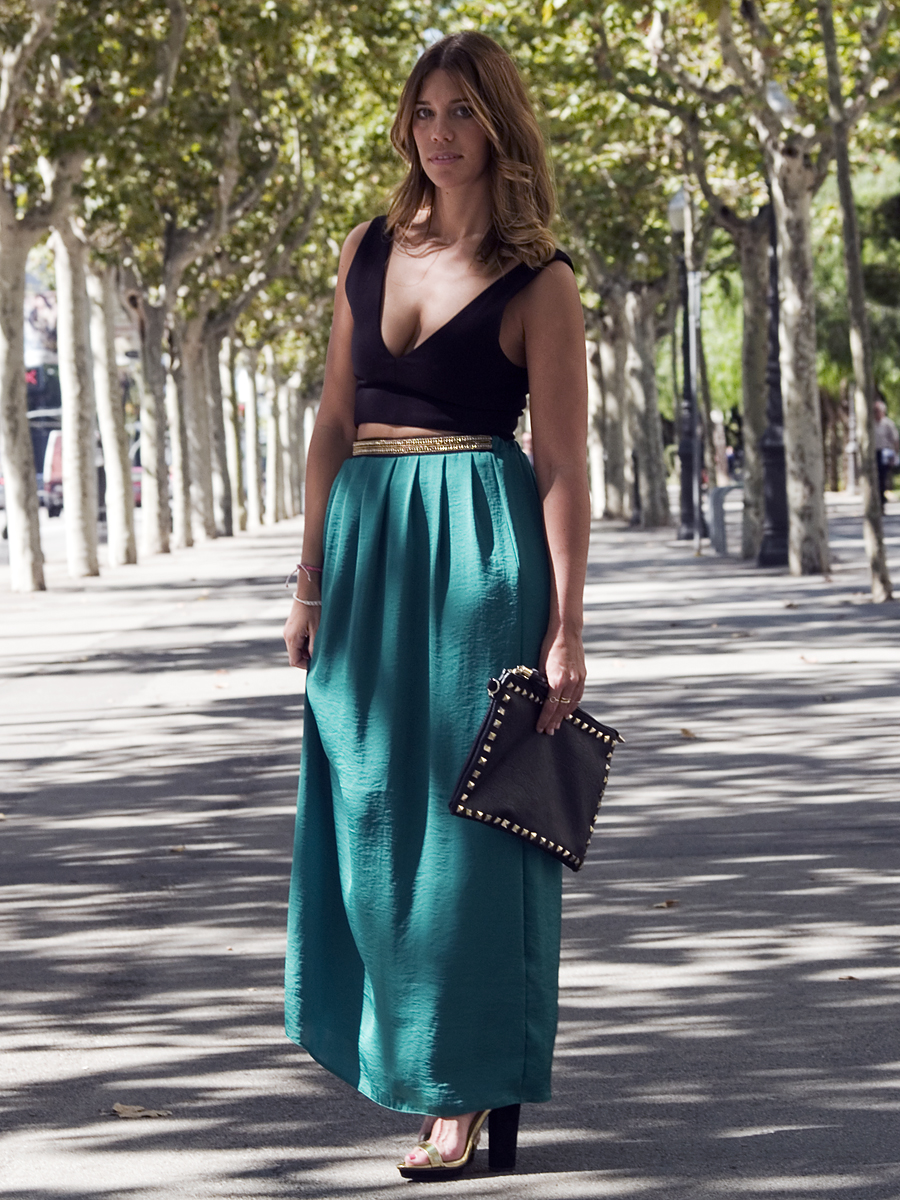 Miss trendy Barcelona  Long skirt   crop top c9d8690c1e2a