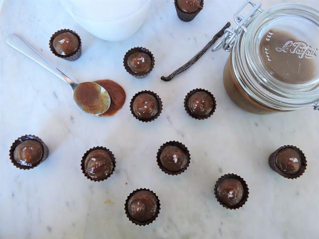 Snobinettes au chocolat noir et caramel à la fleur de sel