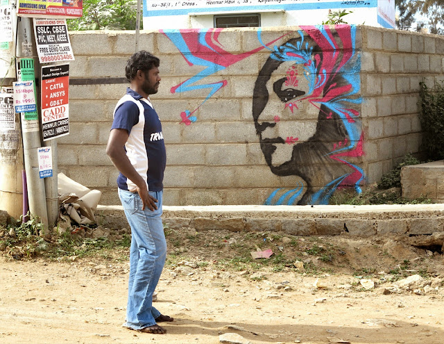 Several New Street Art Pieces By Colombian Artist Stinkfish On The Streets Of India, Cuba and Italy. 2