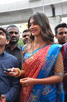 Puja Hegde looks stunning in Red saree at launch of Anutex shopping mall ~ Celebrities Galleries 093.JPG