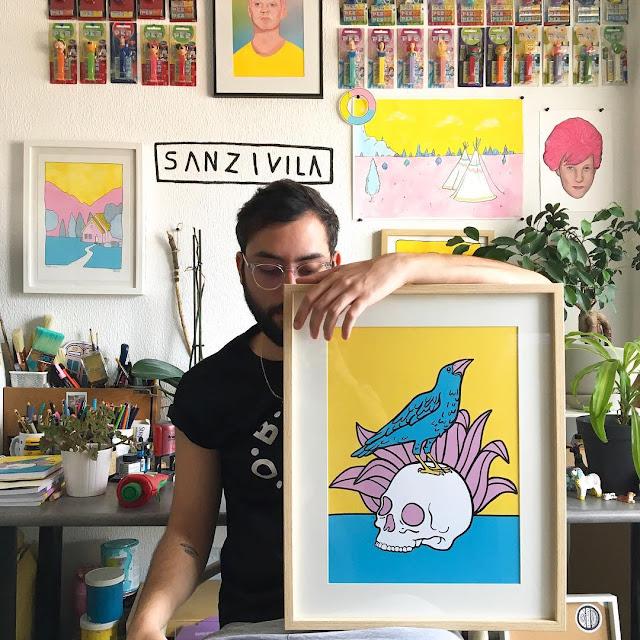 Sanz I Villa, Ilustrador que hace maravillas con 3 colores - 1
