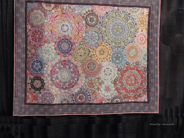 Millefiori hanging in Houston Quilt Festival - my favorite in the special display sponsored by QuiltMania