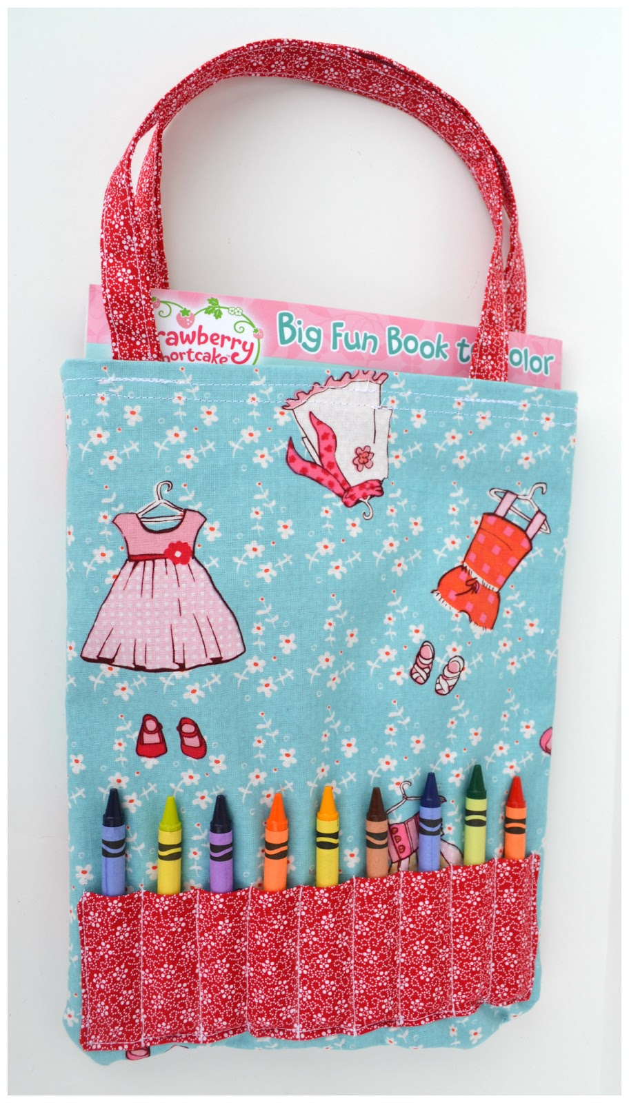 Potlucks On The Porch Personalized Crayon Tote Bag Tutorial
