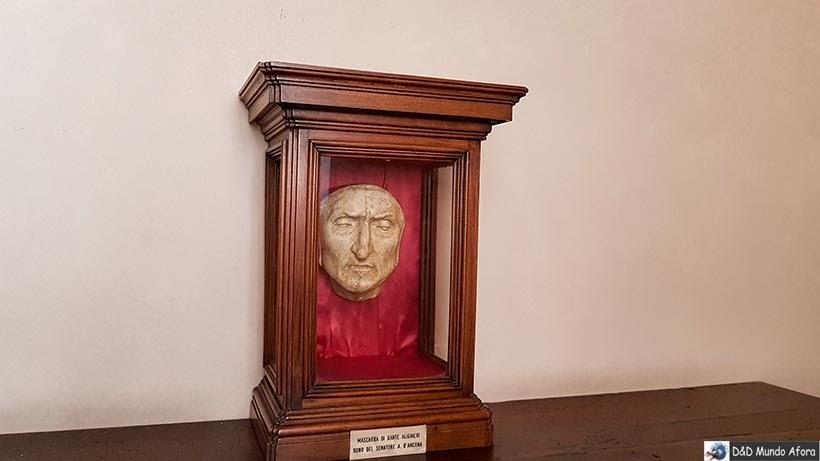 Máscara mortuária de Dante - Palácio Vecchio - Diário de bordo: 2 dias em Florença