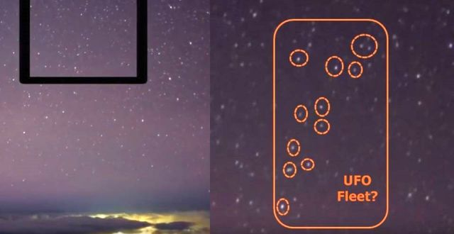НЛО в небе над Аризоной, Звезды не совсем Звезды (фото, видео)
