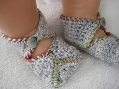 Free Crochet Pattern For Wrap Around Baby Booties : Miss Julias Patterns: Free Patterns - 20 More & More Easy ...