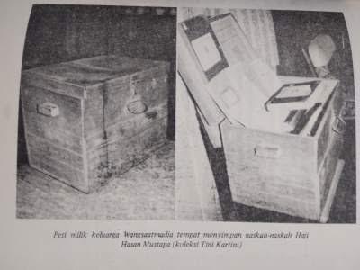 Peti milik keluarga Wangsaatmadja tempat menyimpan naskah-naskah Haji Hasan Mustapa