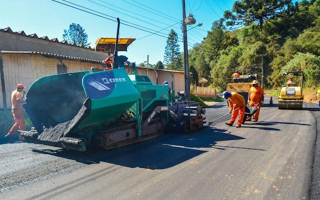 Obras de pavimentação na área rural são vistoriadas