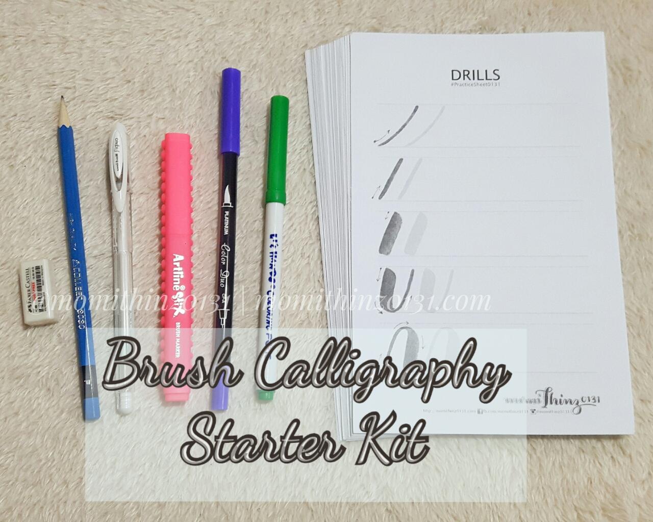 Momithinz0131: for sale : basic brush calligraphy starter kit