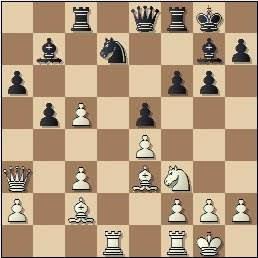 Partida de ajedrez Pérez - Prins, posición después de 18.Ae3