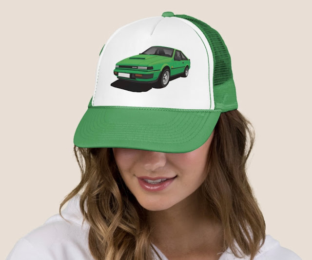 Nissan Silvia S12 Gazelle or 200SX car trucker hat