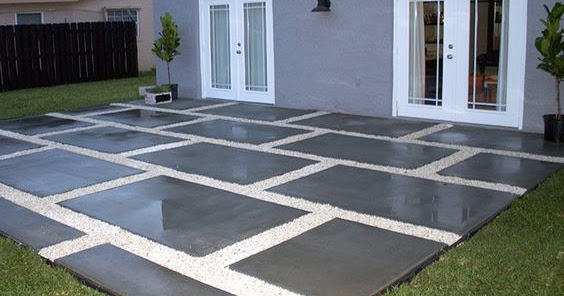 Create A Stylish Patio With Large Poured Concrete Pavers