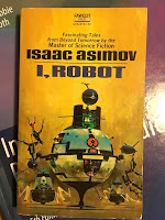I Robot, by Isaac Asimov, superimposed on Intermediate Physics for Medicine and Biology.