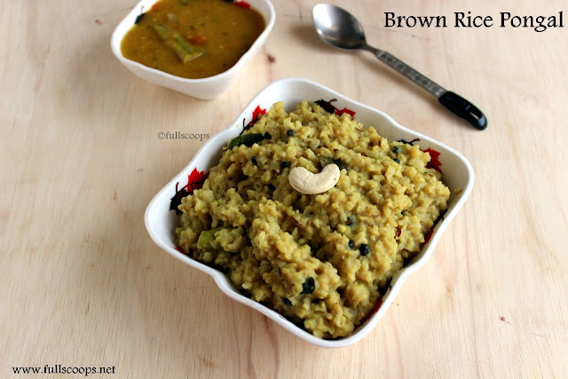 Brown Rice Pongal